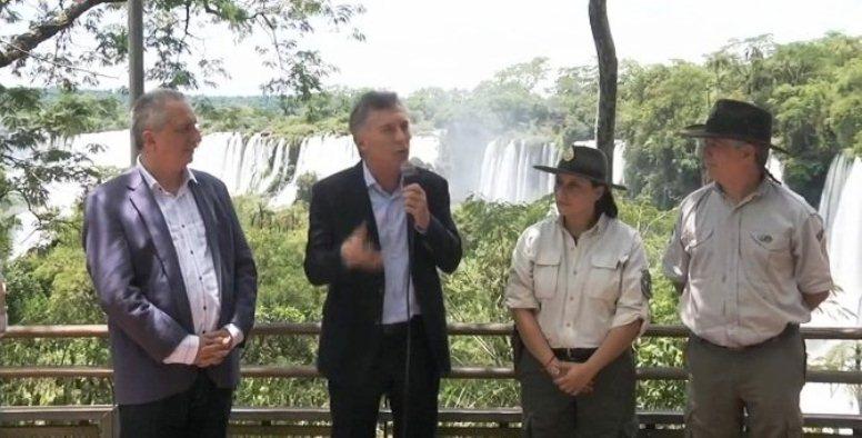 Macri inauguró el servicio de Wifi gratuito en el Parque NacionalIguazú