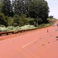 El hombre fue hospitalizado tras una colisión en la ruta 5