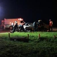 Choque frontal en la ruta 14 dejó varios heridos