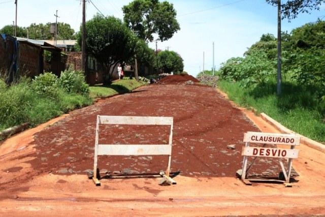 La Municipalidad construyó 81 cuadras de cordón cuneta y 59 cuadras de empedrados en2018