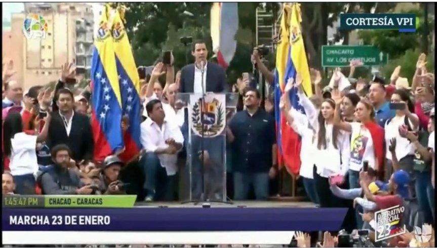 Guaidó se proclamó presidente interino de Venezuela, ya fue reconocido por Trump y laOEA