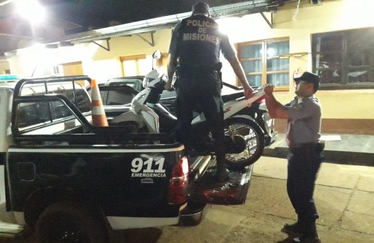 Empujaba en Stemberg una moto robada en el 41viviendas