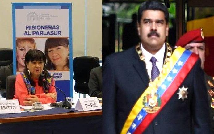 La misionera Perié pide que Maduro sea reconocido como presidente legítimo por todos lospaíses