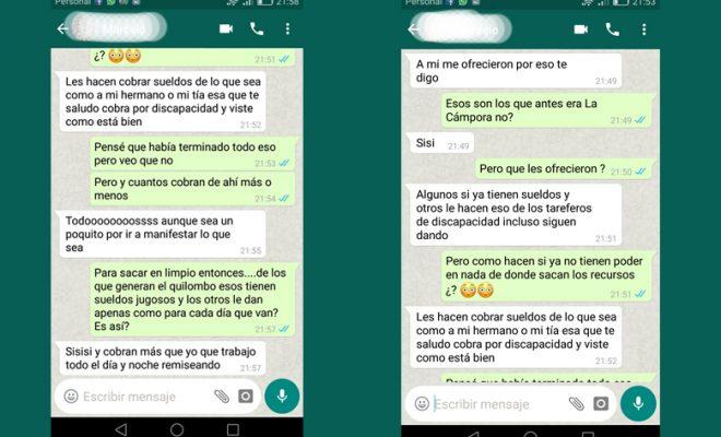 """Denuncian punteros de """"Unidad Ciudadana"""" con sueldos para organizarmanifestaciones"""