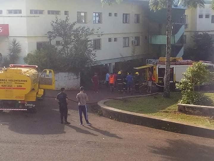 Prendió fuego un colchón y causó un incendio en el hospital deAlem