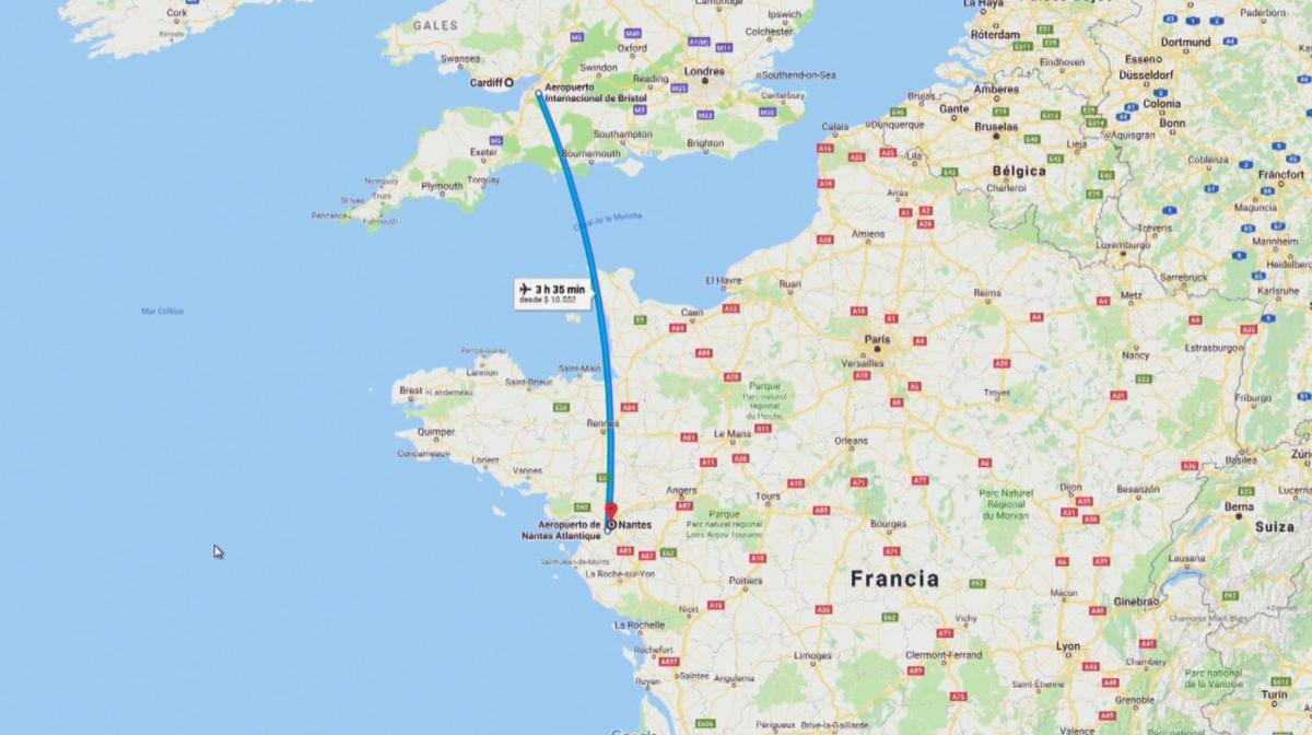 Desapareció el avión en el que viajaba el futbolista argentino Emiliano Sala