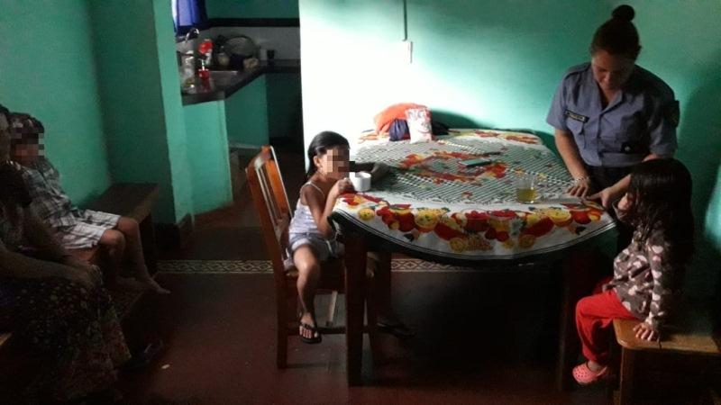 Resguardaron a madre e hijitos deltemporal