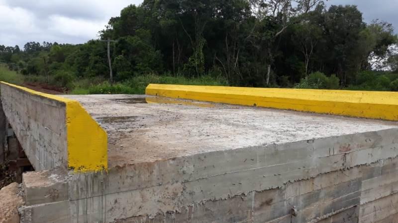 Concluyó la construcción del puente AºArreame