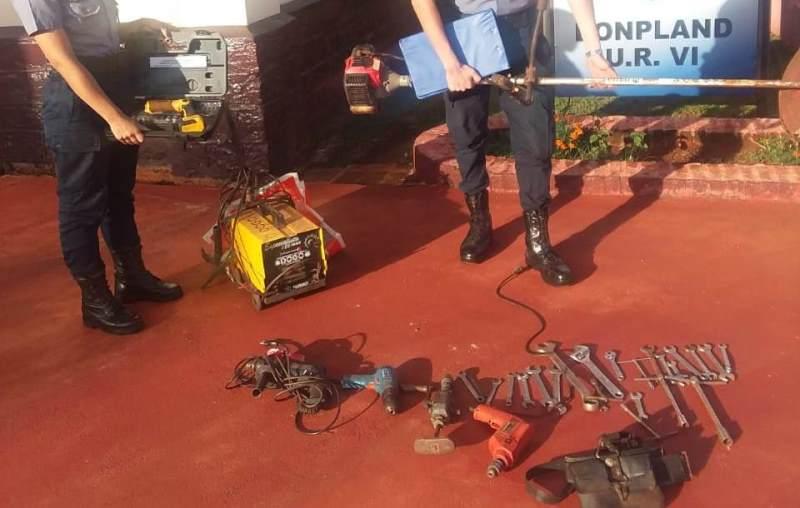 Elementos robados fueron encontrados en un galpón abandonado de latabacalera