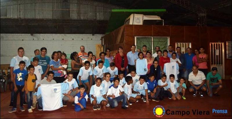 Se presentó la Escuela Municipal de Fútbol Infantil de CampoViera