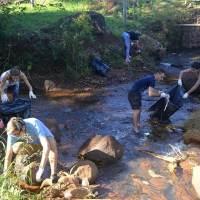 #BasuraChallenge: Jóvenes del PRO realizaron limpieza del arroyo Tuichá