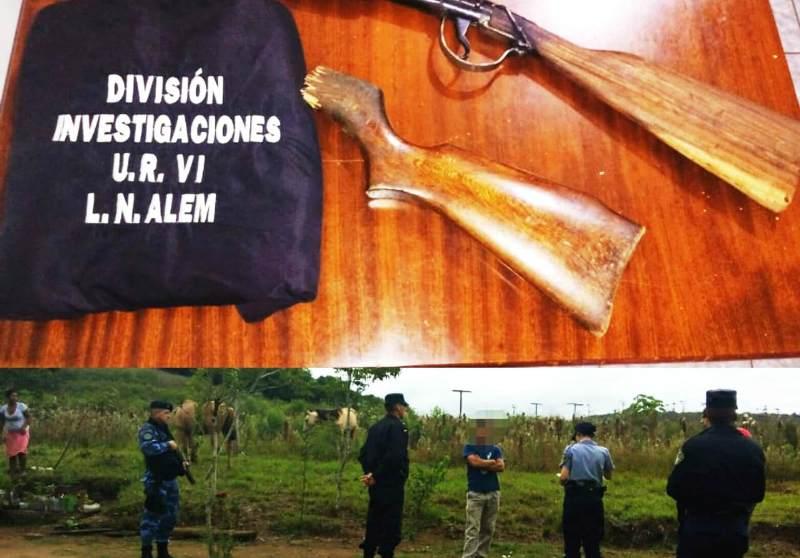 Allanaron una vivienda y recuperaron armas robadas a uncolono