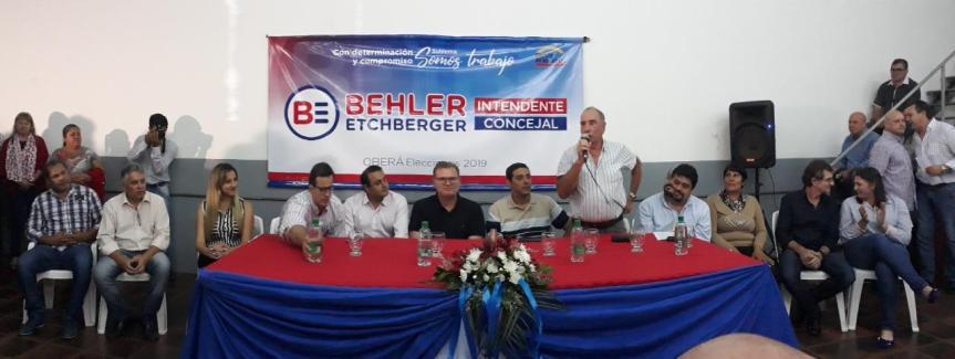 Behler lanzó su promotora con apoyo de Comercio, Camioneros, Luz y Fuerza yotrass
