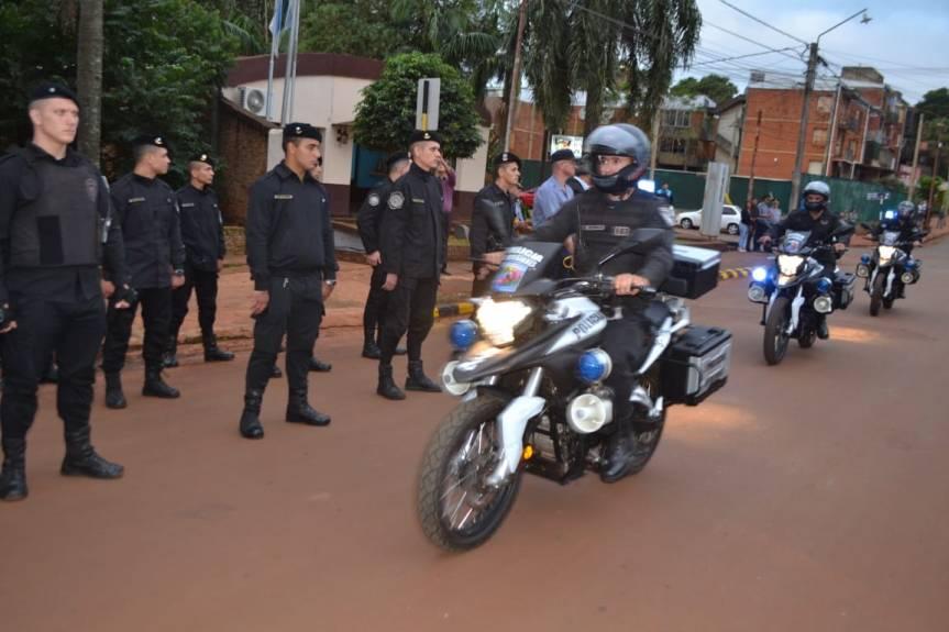 Passalacqua entregó 10 motos nuevas a la División Motorizada para reforzarpatrullajes