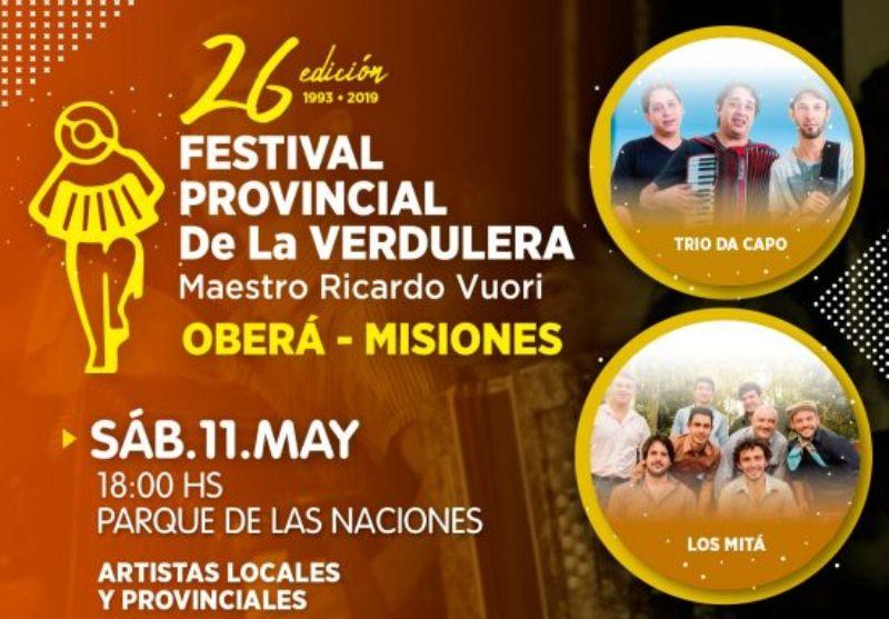 Este sábado se realizará una nueva edición del Festival provincial de laVerdulera