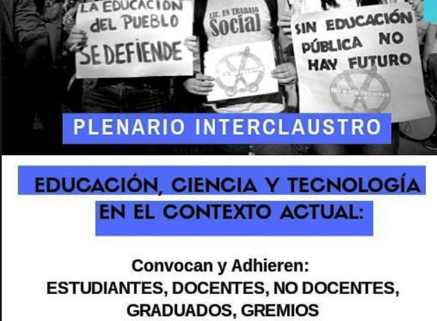Organizaciones universitarias convocan a un plenario por recortespresupuestarios
