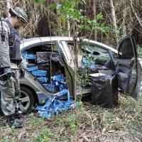 Hallaron un auto abandonado con cigarrillos por $1.300.000