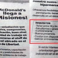 McDonald's pide como requisito que los postulantes sean estudiantes o egresados