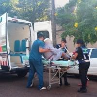 Abuelo se desvaneció en la plaza San Martín