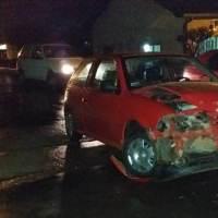 Conductor alcoholizado chocó contra un colectivo
