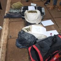 Sujeto abandonó bolsos con 15 kilos de marihuana en la terminal y huyó en un auto