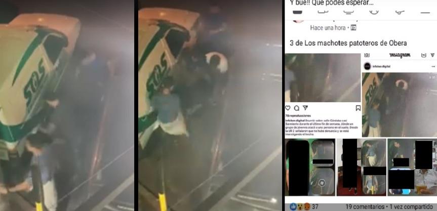 Tras la difusión del video, localizaron a la víctima y buscan a losagresores