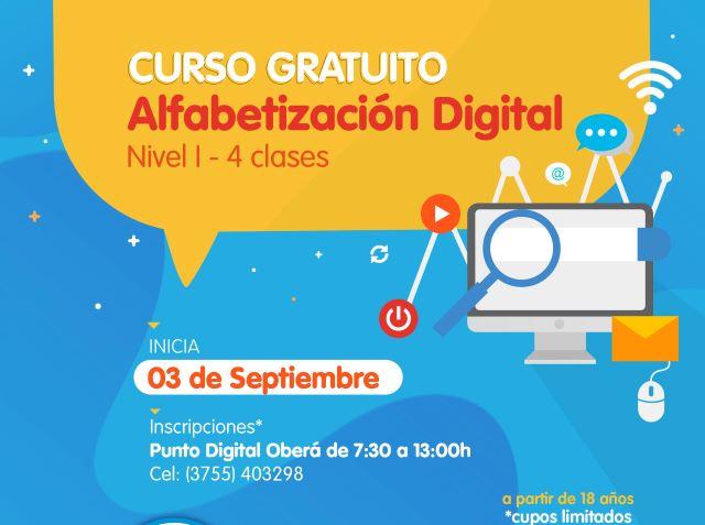 Se dictará un curso de Alfabetización Digital para adultos yjóvenes