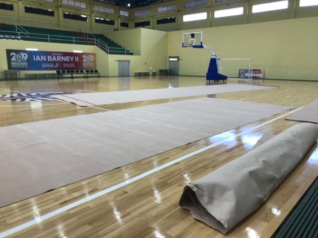 La gimnasia obereña recibió una alfombra profesional para el desarrollo de ladisciplina