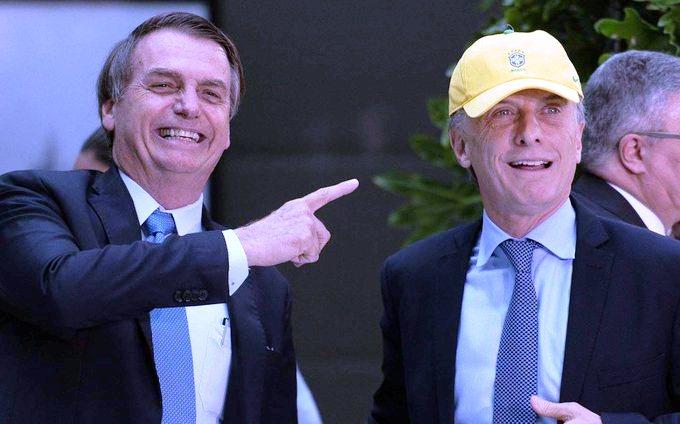 Bolsonaro les pidió a los empresarios brasileños que colaboren en la reelección deMacri