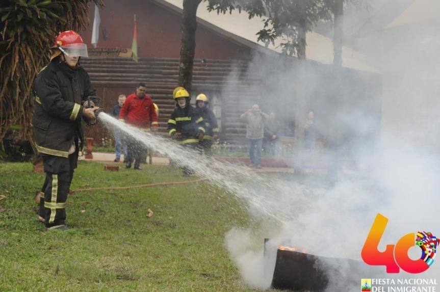 Se hizo un exitoso simulacro de incendio en el Parque de lasNaciones