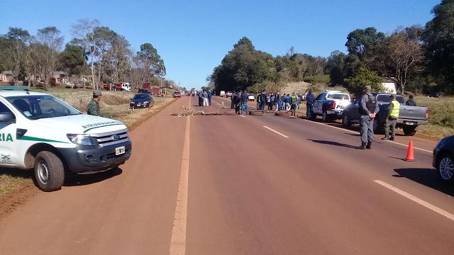 Tabacaleros volvieron a cortar la Ruta 14 en SanVicente
