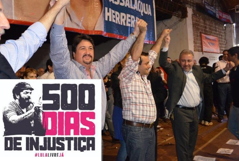 Herrera Ahuad, Closs, Franco y diputados misioneros firmaron por la libertad deLula
