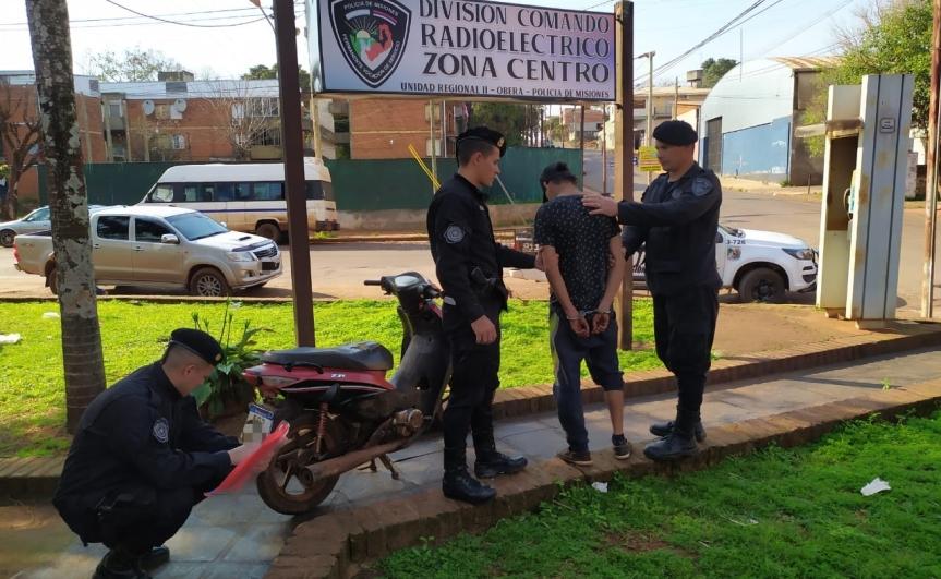 Circulaba con una moto robada por Sapucay, intentó fugarse y fueinterceptado