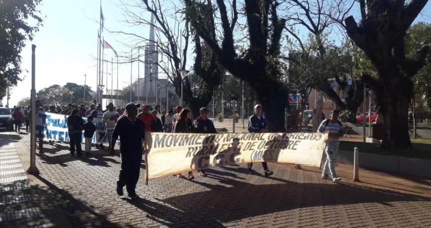 La CCC y el Polo Obrero protestan en el centro pidiendo asistenciasocial