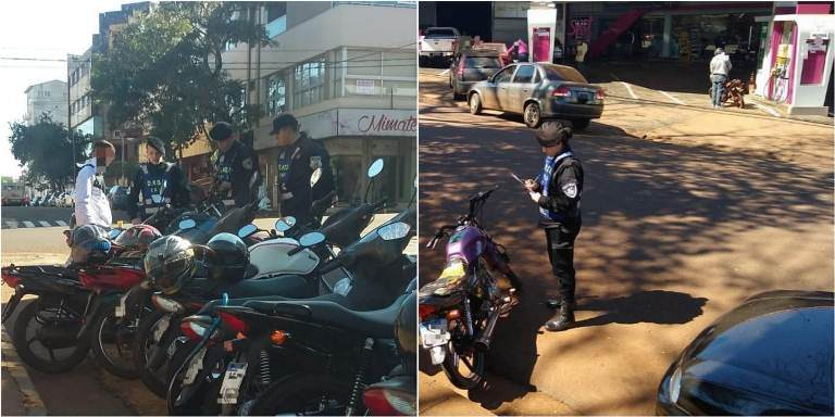 Secuestraron moto abandonada frente a una estación de servicios y otras tres por falta depapeles