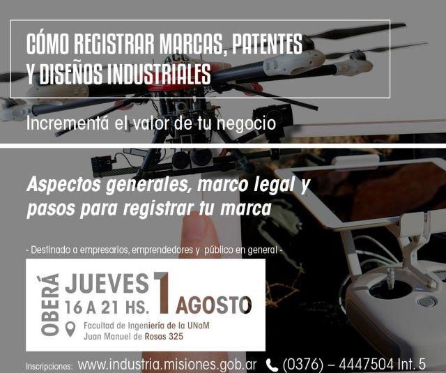 """Se realizarán charlas sobre """"Cómo registrar Marcas, Patentes y DiseñosIndustriales"""""""
