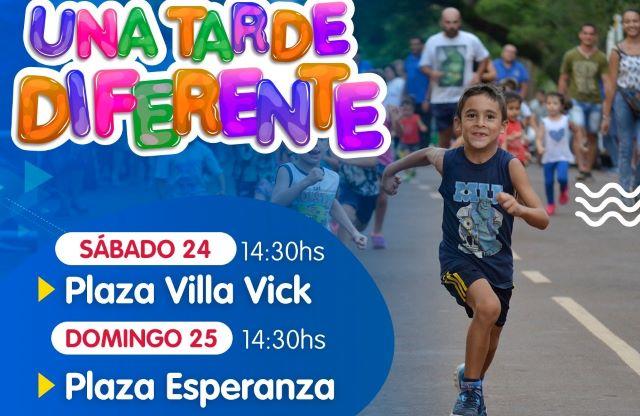 """""""Una tarde diferente"""" estará con actividades para toda la familia en los barrios Vick yEsperanza"""