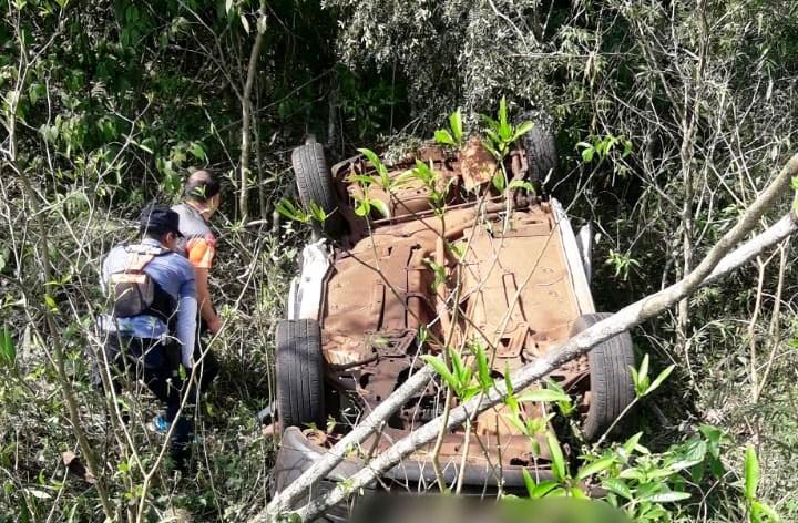 Vuelco en ruta 12 dejó dos muertos y unherido