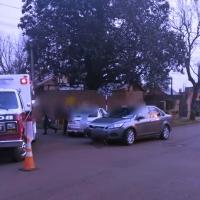 Choque en calle Tierra del Fuego dejó dos mujeres heridas