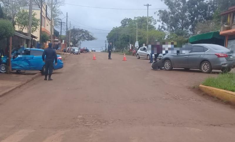 Choque en avenida Yerbal Viejo dejó una mujerherida