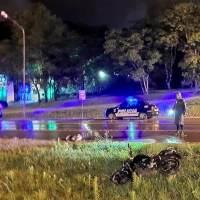 Cinco motociclistas heridos en dos choques sobre la 14: uno frente al Parque Termal y el otro cerca de Pincen