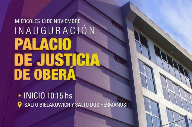 Mañana se inaugura el Palacio de Justicia deOberá