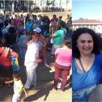 """Manifestación en el centro en defensa de Evo Morales: """"rechazamos el golpe de estado"""""""