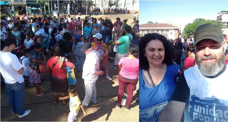 """Manifestación en el centro en defensa de Evo Morales: """"rechazamos el golpe deestado"""""""