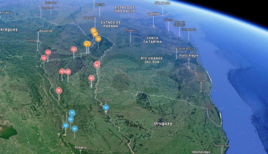 El mapa de los radares homologados en elNEA