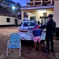 Adolescente fue demorado en calle Pilcomayo tras robar un sillón plegable