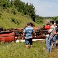 Conductor volcó en la ruta 14 con una camioneta