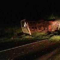 Camión sanvicentino impactó a otro en Aristóbulo