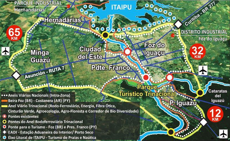 Iguazú planifica acuerdo para la construcción de un anillo vial metropolitanotrinacional