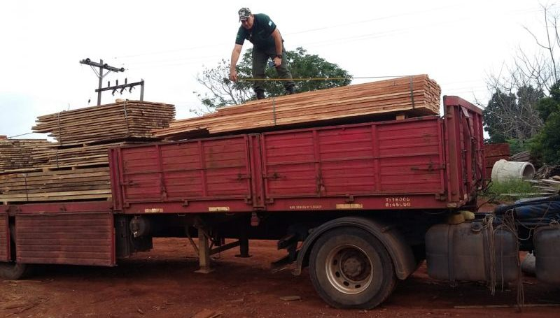 Clausuraron aserradero y secuestraron camión con maderanativa